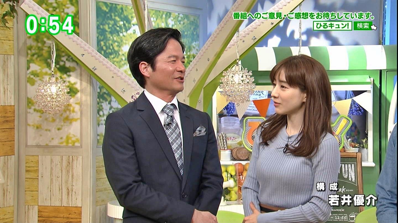 田中みな実_女子アナ_ニット巨乳_ひるキュン_46