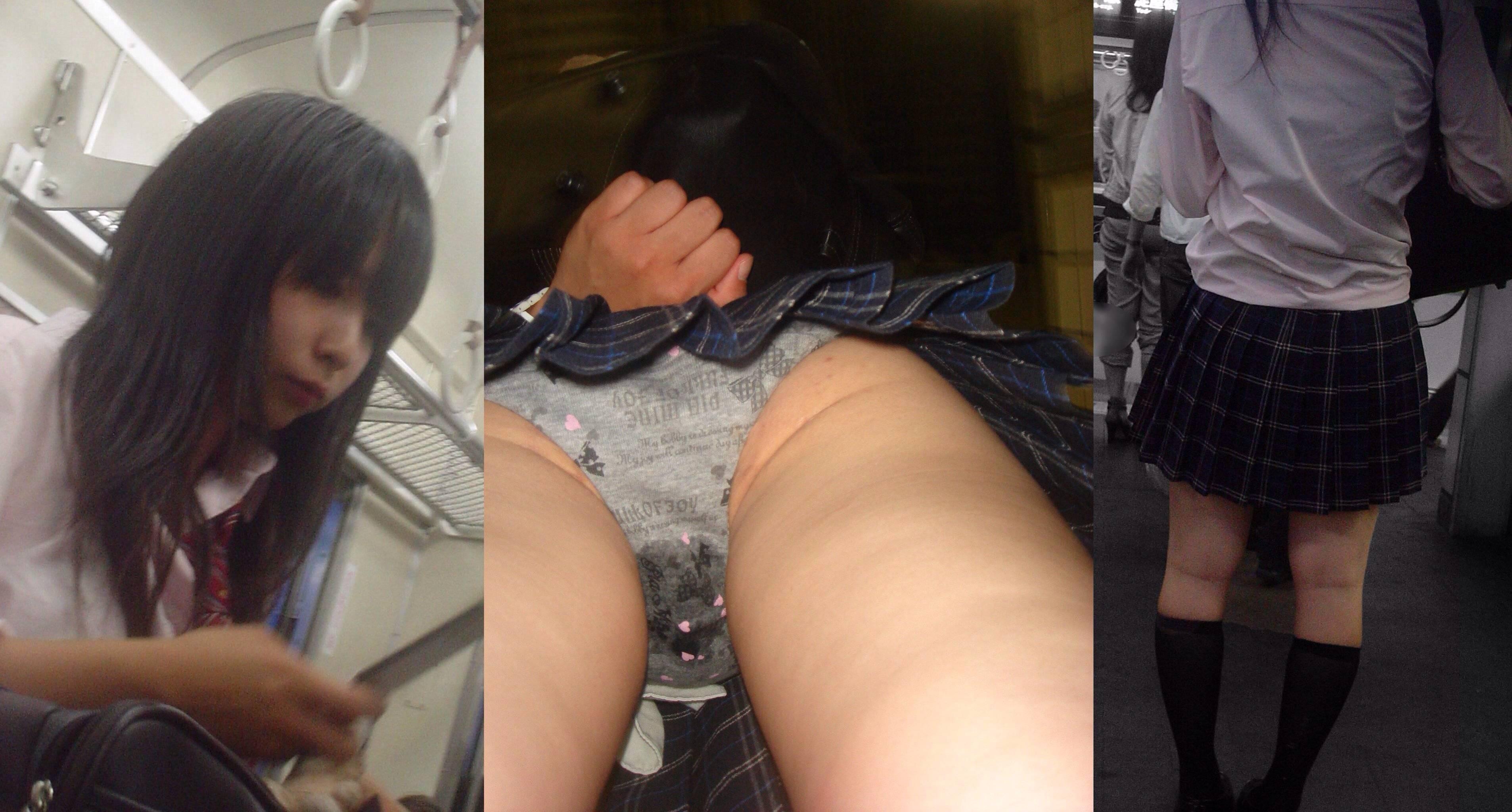 駅構内でミニスカ女子校生のパンツを盗撮!