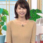 【加藤綾子アナキャプエロ画像】『世界へ発信!SNS英語術』ニット着用で柔らかいおっぱいの形が気になる!