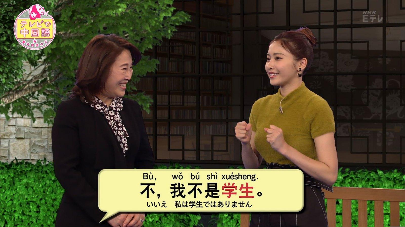 佐野ひなこ_着衣巨乳_テレビで中国語_06