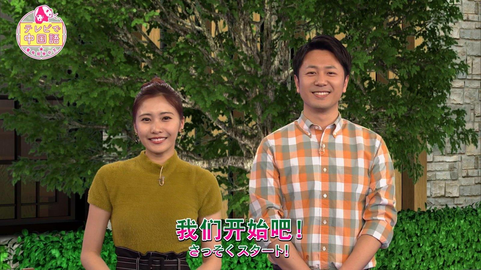 佐野ひなこ_着衣巨乳_テレビで中国語_08