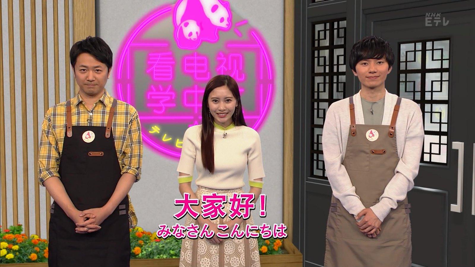 佐野ひなこ_ニット_おっぱい_テレビで中国語_01