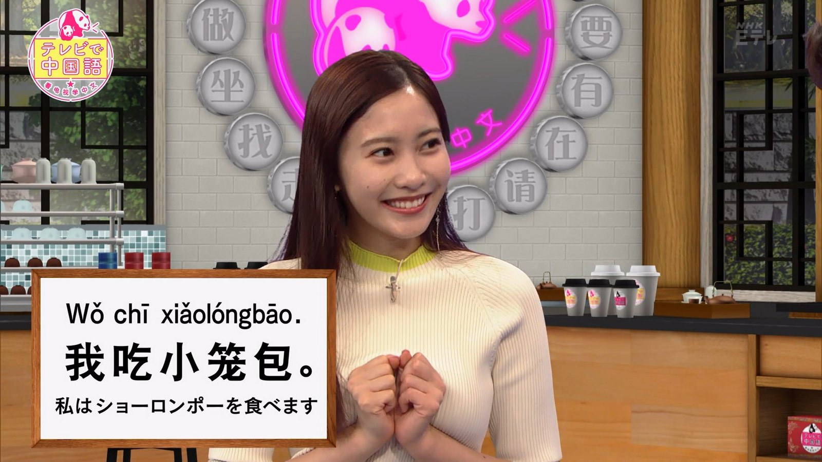 佐野ひなこ_ニット_おっぱい_テレビで中国語_04