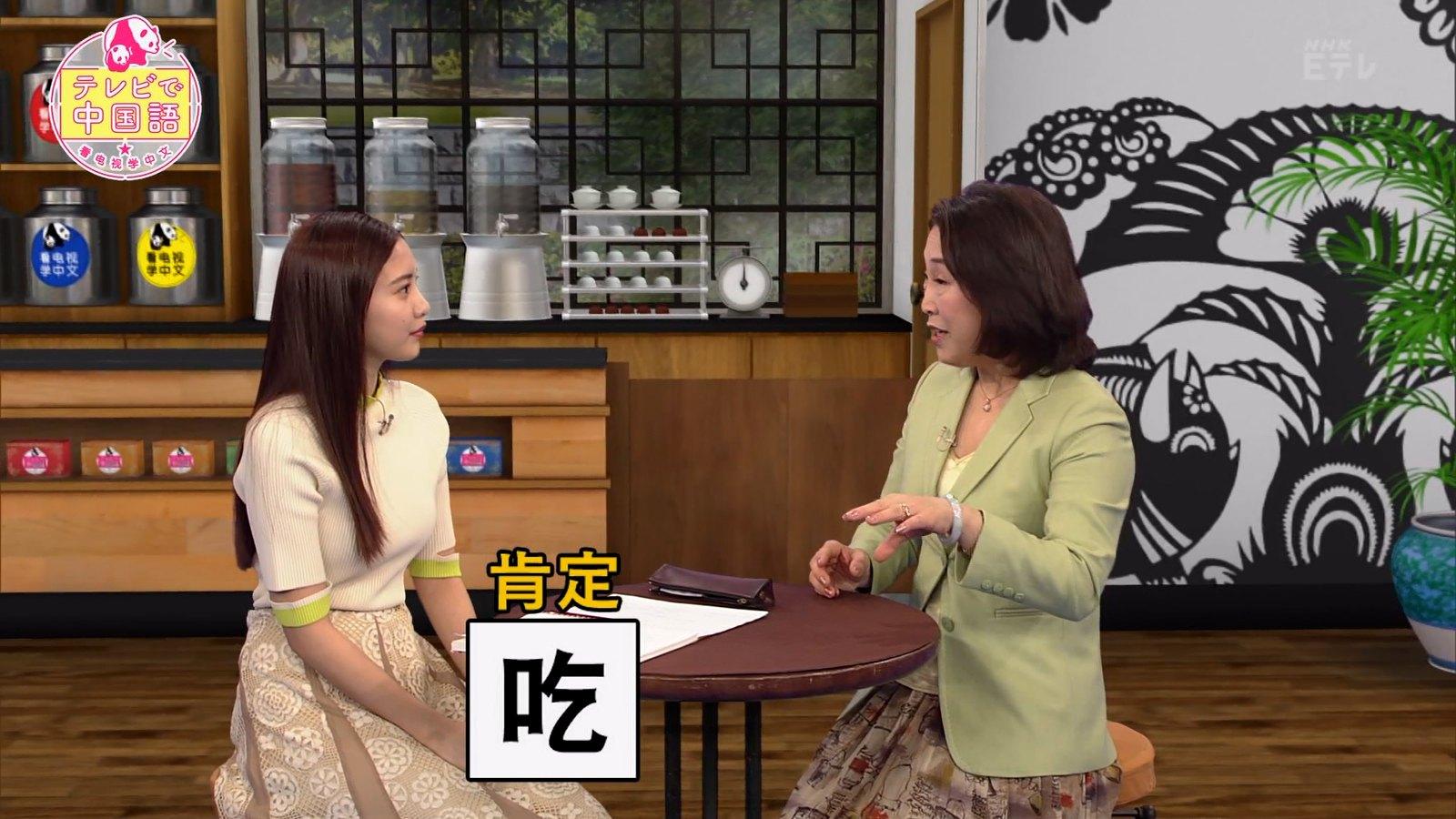 佐野ひなこ_ニット_おっぱい_テレビで中国語_06