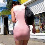 【透けパン盗撮エロ画像】ミニスカ女性の下着ラインが丸分かりで興奮しない男はいないだろう!