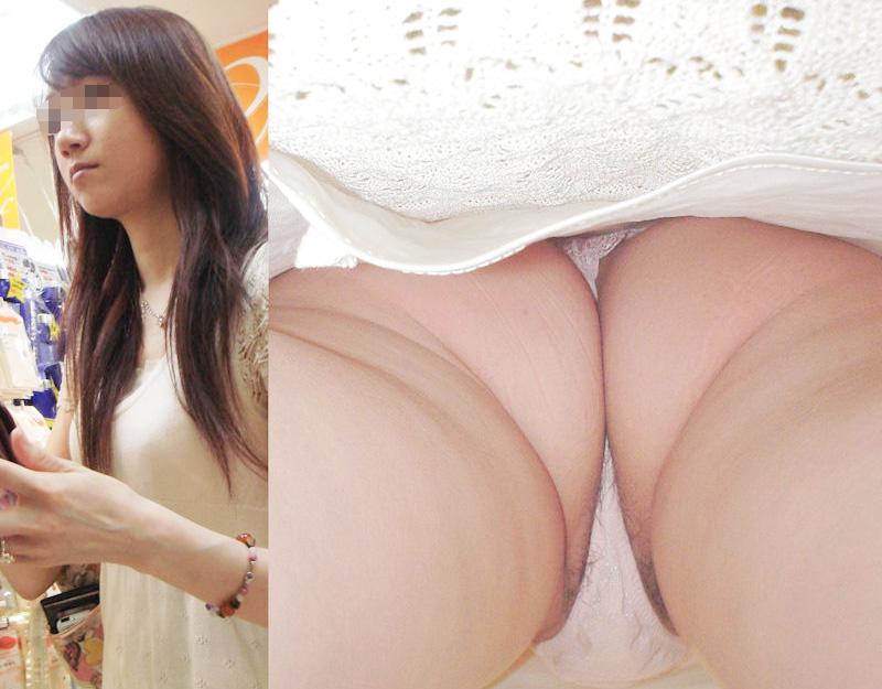 激カワ女性の食い込みパンツを眺める!