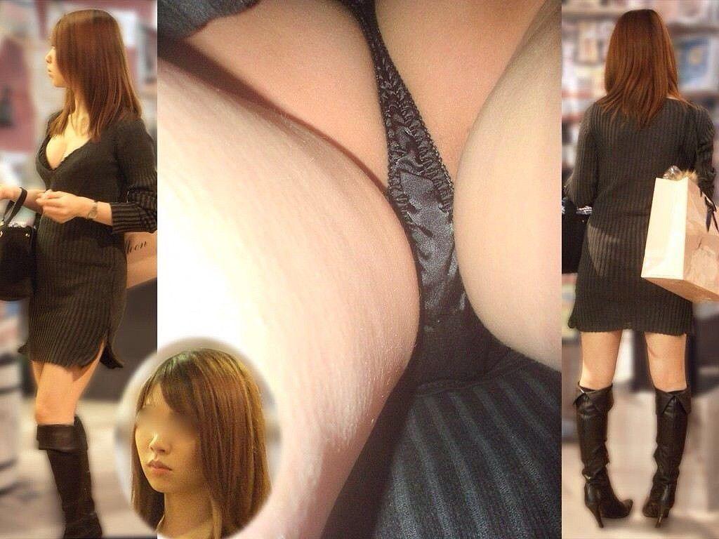 美人女性の黒色下着がセクシーすぎる!