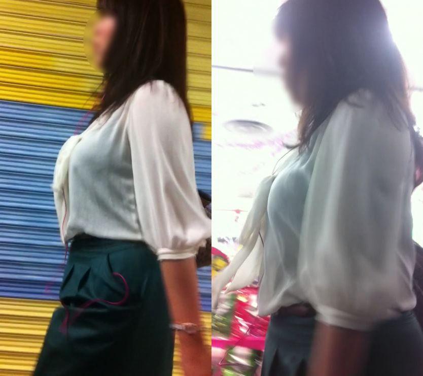 街撮りしたお姉さんの着衣巨乳がエッチだった!