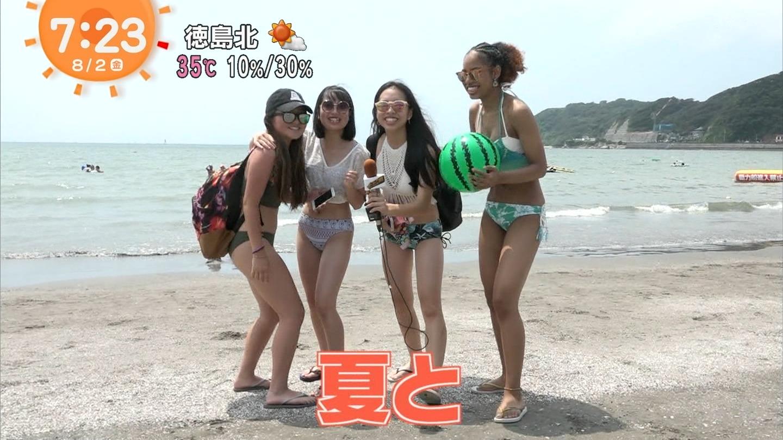 ビーチ_素人_ビキニ水着_めざましテレビ_01