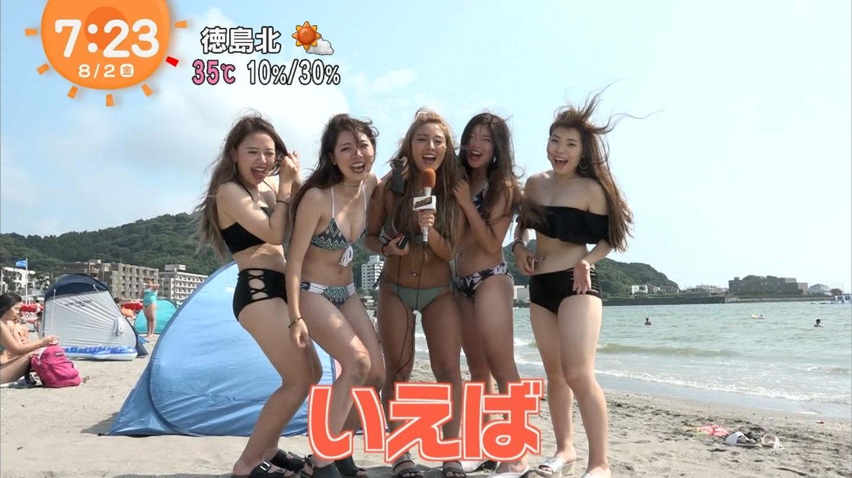 ビーチ_素人_ビキニ水着_めざましテレビ_02