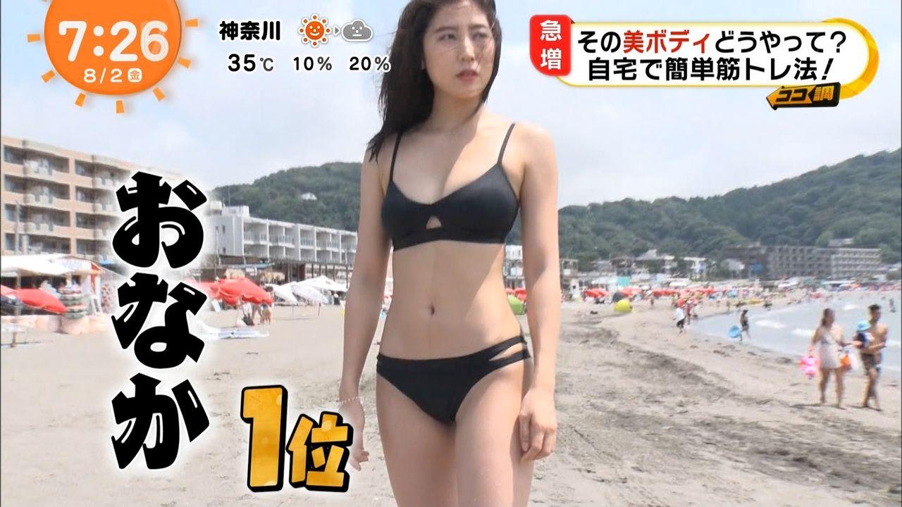 ビーチ_素人_ビキニ水着_めざましテレビ_60