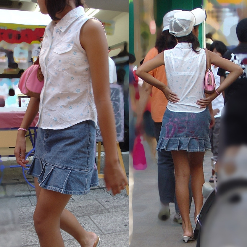 JS少女の透けブラと生足を隠し撮りする!