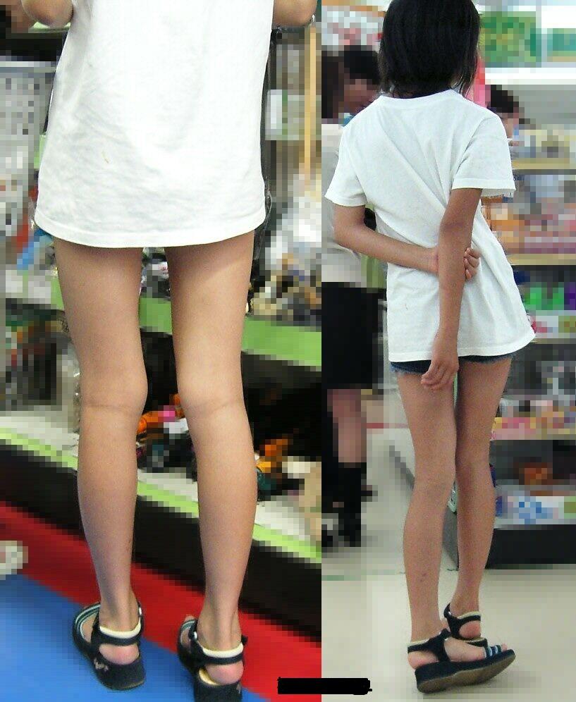 JSの背後に立って生足を盗撮してる!