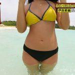 【画像あり】『世界さまぁ~リゾート』リポーターの日焼けした色黒美女のビキニ水着ボディが堪らん件!