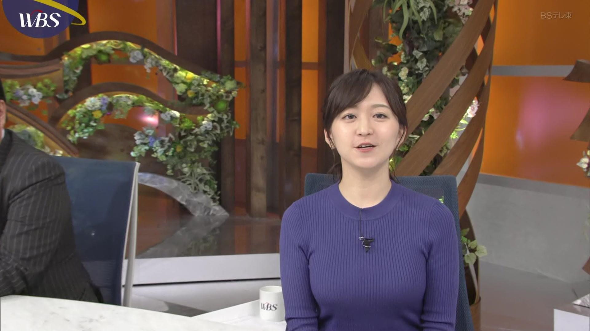 片渕茜_テレ東アナ_着衣巨乳_縄跳び_キャプエロ画像_06
