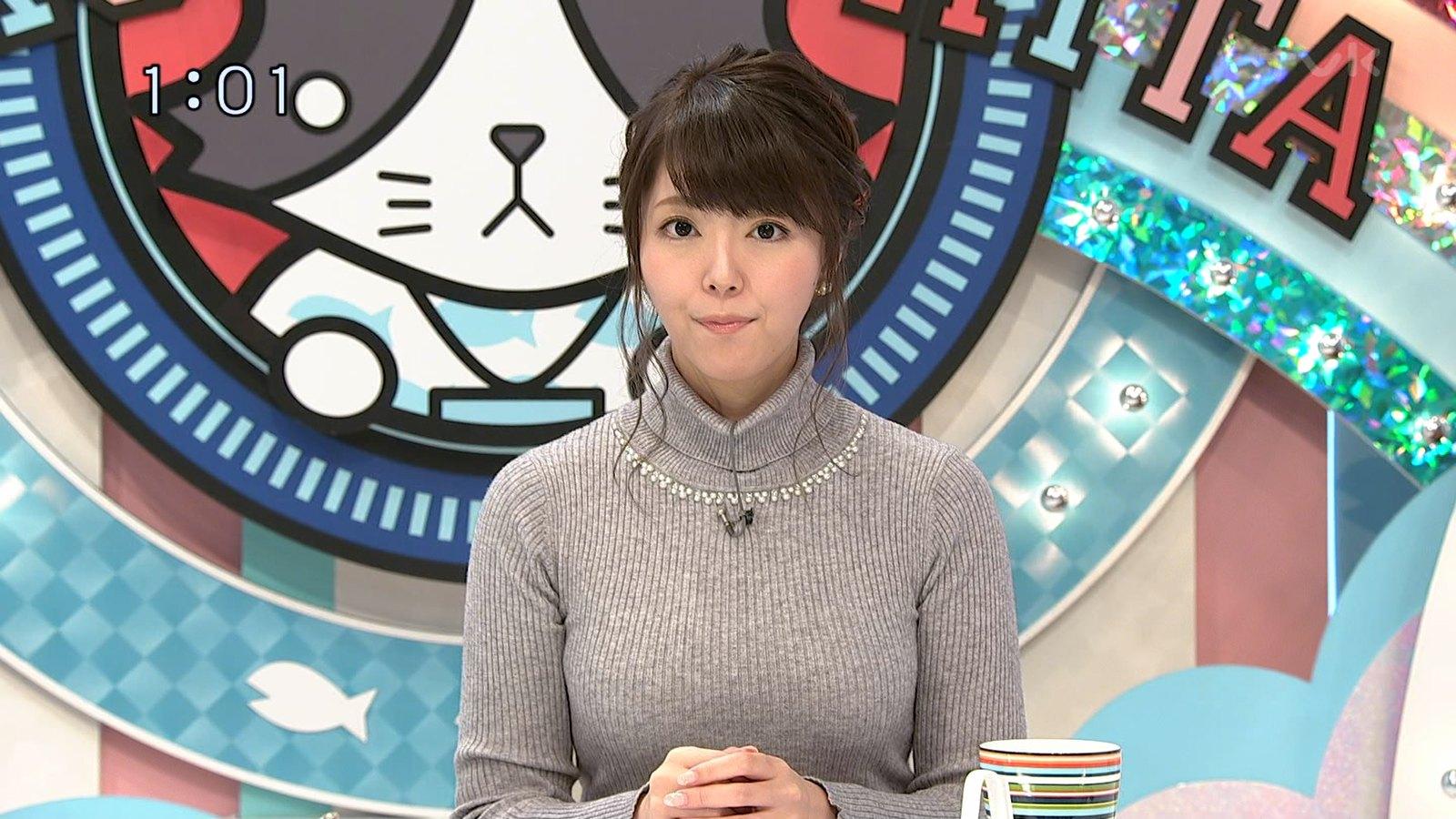 岡村帆奈美_女子アナ_着衣巨乳_猫のひたいほどワイド_09