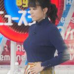 【GIF画像あり】『Abema的ニュースショー』三谷紬アナのニット巨乳がヤバすぎて見入ってしまった件!