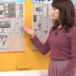 【画像あり】『グッド!モーニング』新井恵理那アナのニットお乳に男性視聴者はメロメロwww