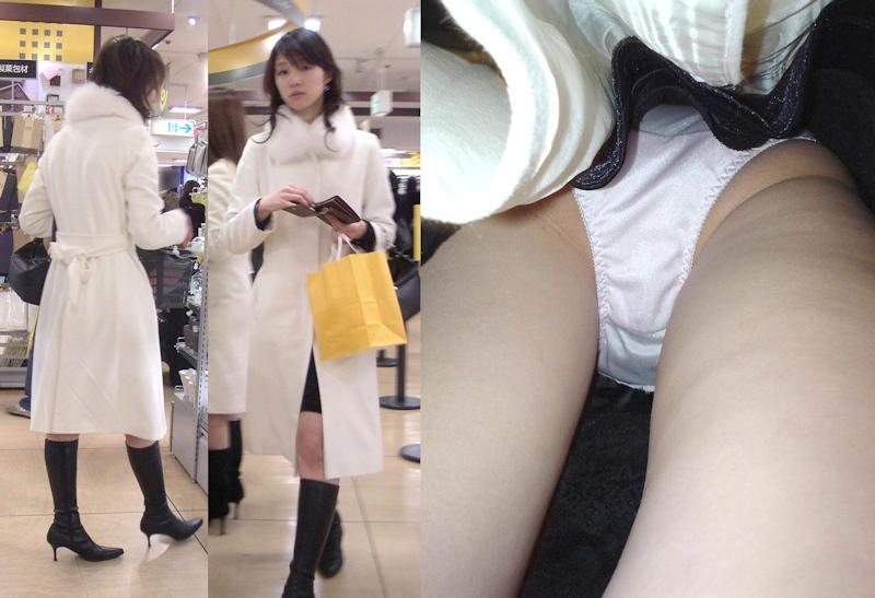 清楚な素人女性のスカートの中を隠し撮り!