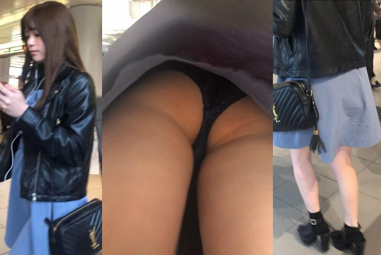 美女のプリケツと黒パンツがエロい!