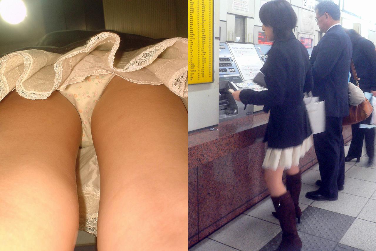 駅構内で素人お姉さんの下着をゲット!