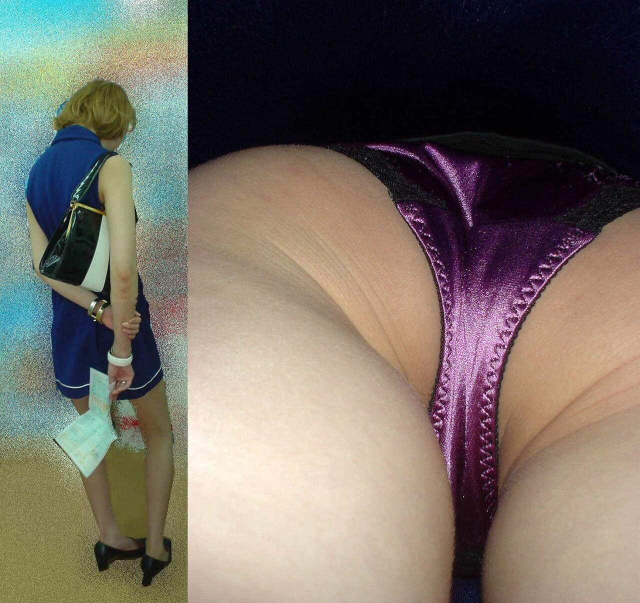 紫のパンツがセクシー過ぎる激カワ女性!