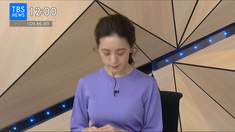 古谷有美_女子アナ_着衣巨乳_テレビキャプ画像_02