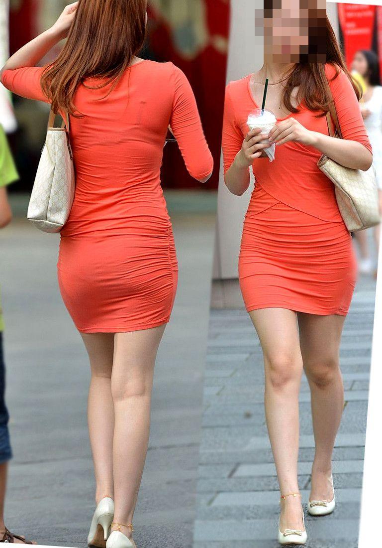 モデルみたいな美脚の女性を発見!