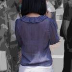 【透けブラ盗撮エロ画像】薄着の季節は常に下着が透ける可能性あるからついつい見ちゃうよね!
