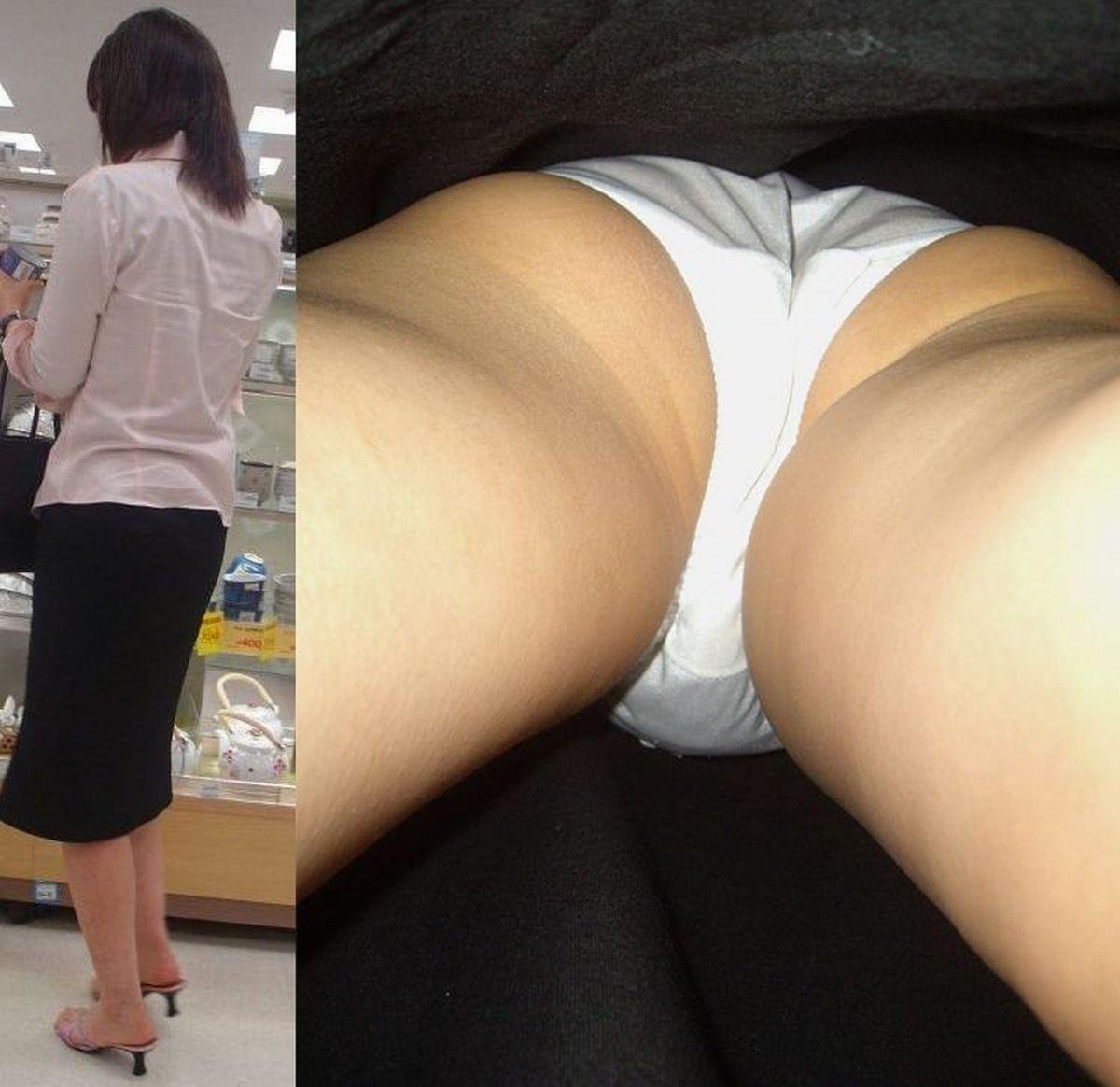 純白パンツ履いたお姉さんを隠し撮り!