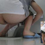 【トイレ盗撮エロ画像】和式便所でオシッコ中の素人を覗く卑劣な犯行…なかなか見る機会がない!