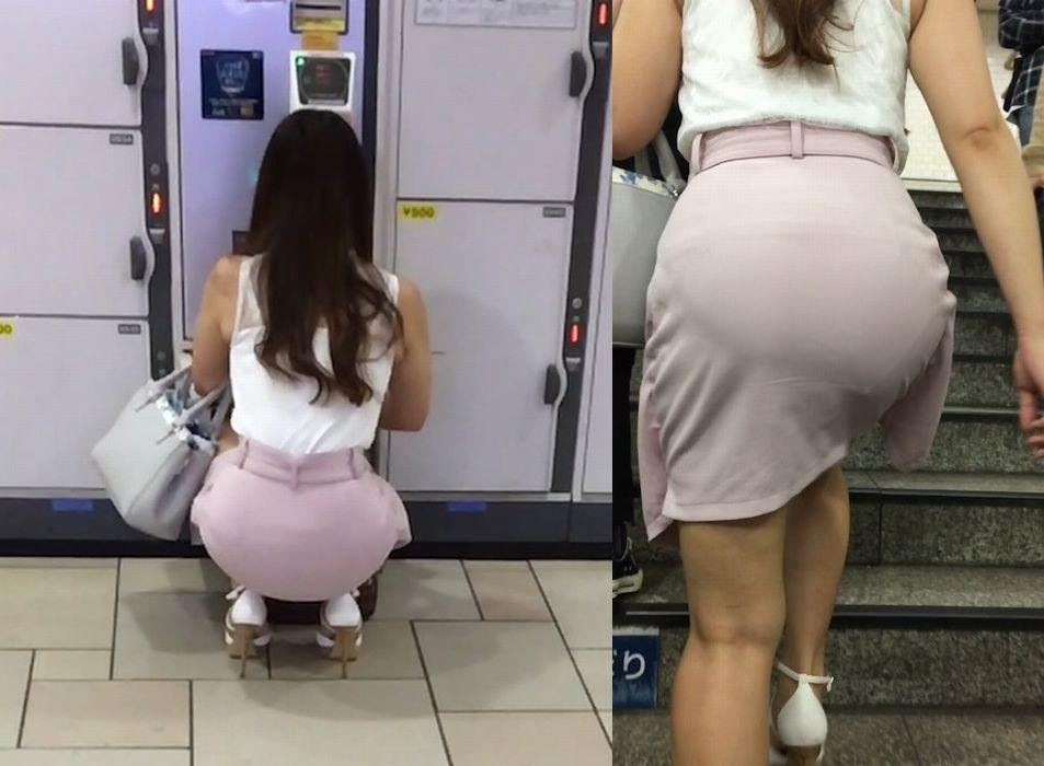 度いいお尻の大きさで下着が透ける!