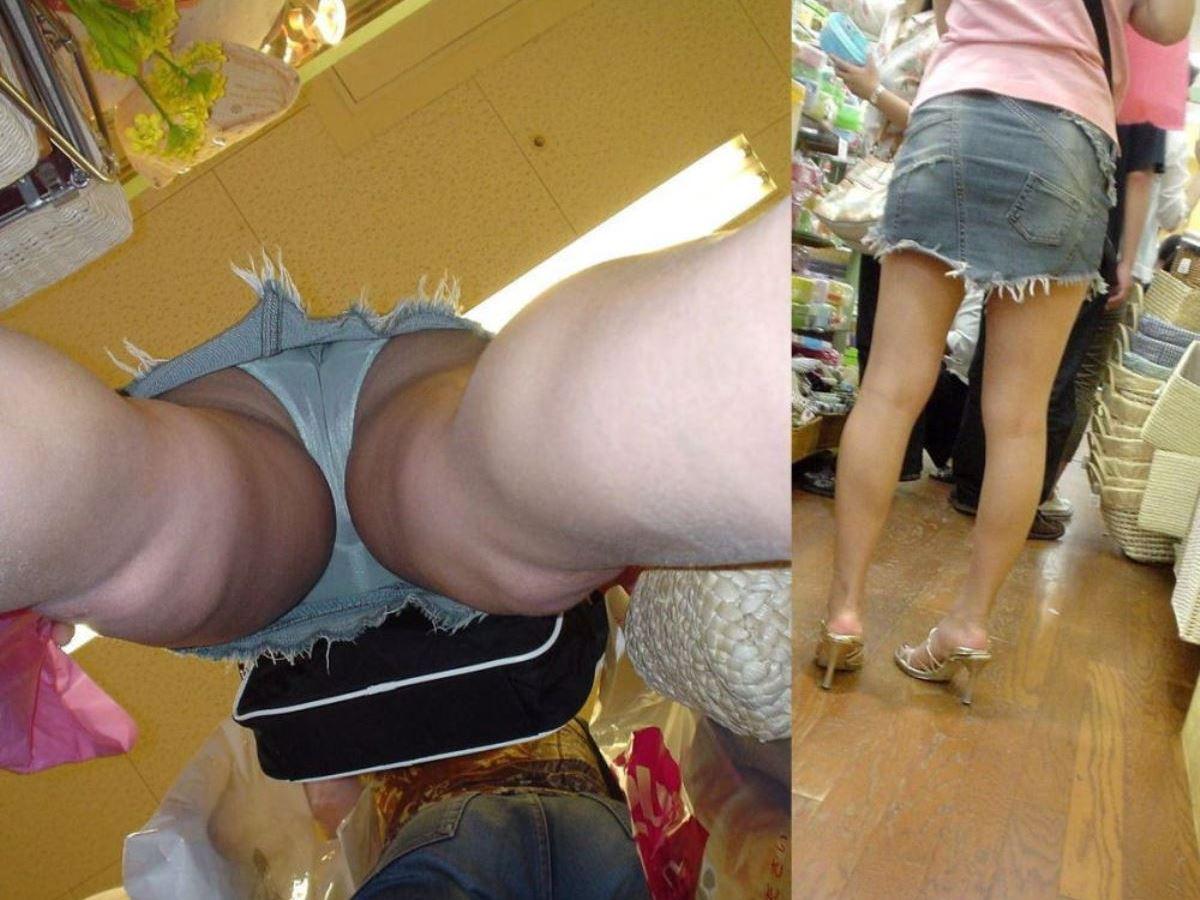 買い物中の素人女子のパンツを盗撮!